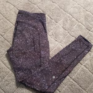 Lululemon Galaxy print fast and free leggings sz 8